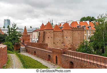 ポーランド, ワルシャワ, -, barbican, 光景