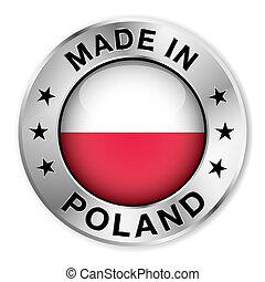 ポーランド, 作られた, バッジ, 銀
