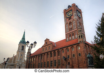 ポーランド, 広場, torun, 市場