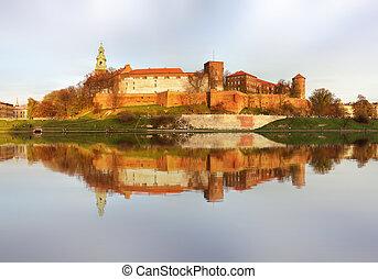 ポーランド, 皇族, kwakow, wawel, 国王, ポーランド語, 丘, 城