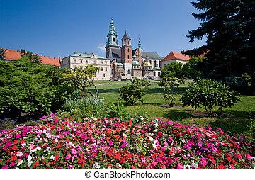 ポーランド, krakow, 城, wawel