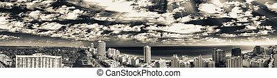 マイアミ 浜, 航空写真, 南, 光景