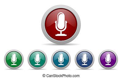 マイクロフォン, アイコン, podcast, 印