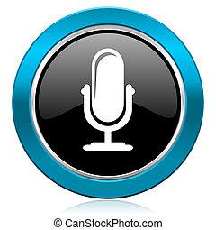 マイクロフォン, グロッシー, アイコン, podcast, 印
