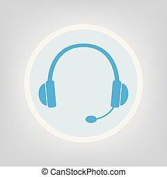 マイクロフォン, ヘッドホン, アイコン