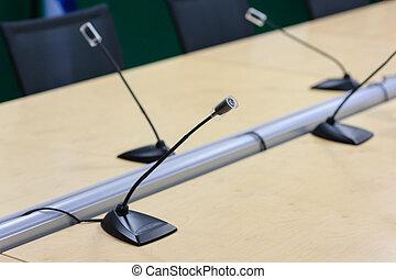 マイクロフォン, 上に, 会議