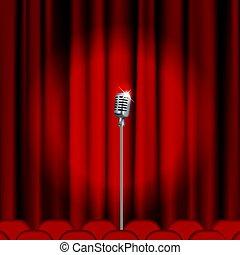 マイクロフォン, 劇場, ステージ