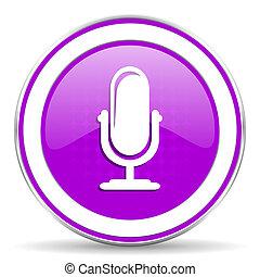 マイクロフォン, 印, すみれ,  podcast, アイコン