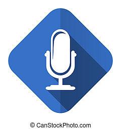マイクロフォン, 平ら, アイコン, podcast, 印