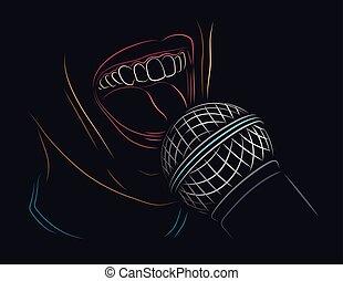 マイクロフォン, 歌うこと
