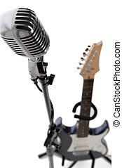 マイクロフォン, 立ちなさい, そして, ギター
