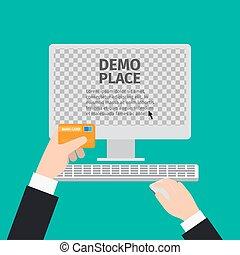 マウス, コンピュータ, カードの手