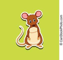 マウス, ステッカー, デザイン, かわいい