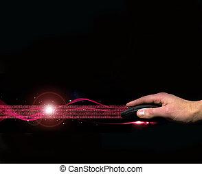 マウス, 流れ, インターネット