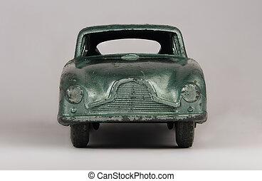 マクロ, イメージ, おもちゃ 車, 型