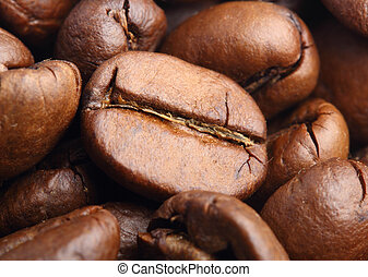 マクロ, コーヒー, 打撃, 豆