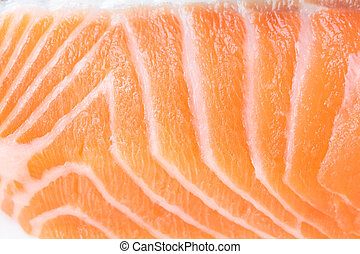 マクロ, 鮭, の上, flesh., 終わり, 新たに