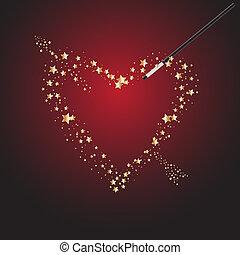 マジック, バレンタイン, 細い棒