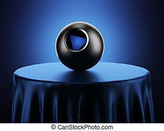 マジック, 8つのボール, 上に, テーブル