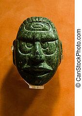 マスク, ひすい, 古代, maya, メキシコ\