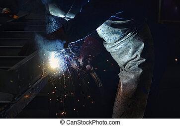 マスク, 保護である, 溶接, 金属の 労働者