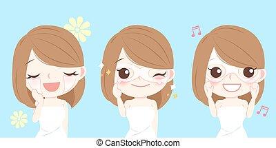 マスク, 女性の目