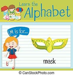 マスク, m, 手紙, flashcard
