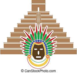 マスク, mayan, ピラミッド
