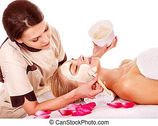 マスク, spa., 美顔術, 美しさ, 粘土