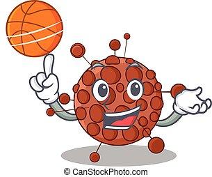 マスコット, バスケットボール, 漫画, 運動, デザイン, neisseria