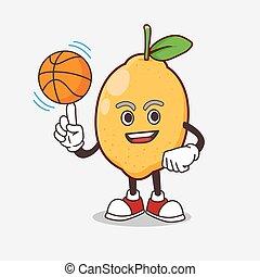マスコット, レモン, フルーツ, 漫画, バスケットボール, 特徴