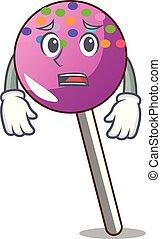 マスコット, 恐れている, 振りかける, lollipop, 漫画