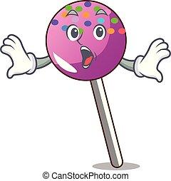 マスコット, 振りかける, lollipop, 驚かされる, 漫画