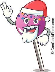 マスコット, 振りかける, lollipop, santa, 漫画