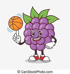 マスコット, boysenberries, フルーツ, 特徴, バスケットボール, 漫画