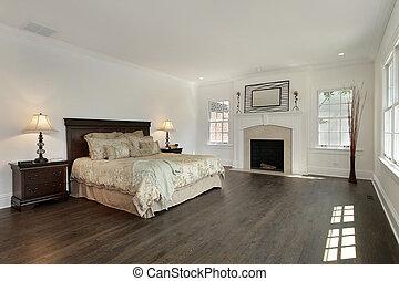 マスター, 寝室, 中に, 新しい, 建設, 家