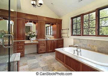 マスター, 浴室, 中に, ぜいたくな家