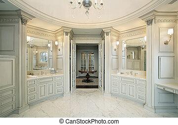 マスター, 浴室, 中に, 新しい, 建設, 家