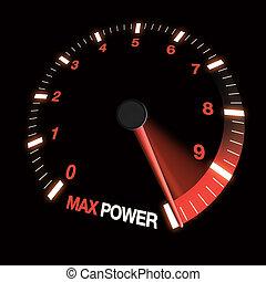 マックス, ダイヤル, スピード, 力