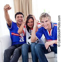マッチ, 家, フットボール, 監視, 思春期の若者