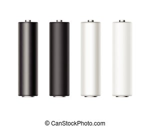 マット, セット, 電池, metalic, 黒, グロッシー, 白