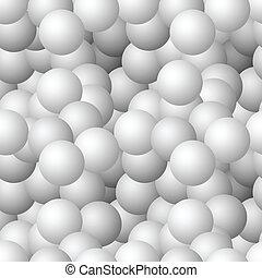 マット, ボール, パターン, -, seamless, モノクローム