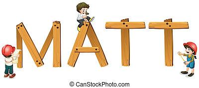 マット, 単語, 英語