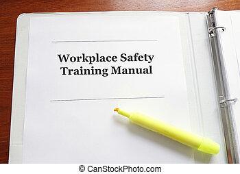マニュアル, 安全, 仕事場, 訓練