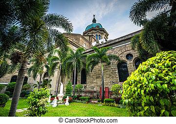 ∥, マニラ, 大聖堂, 中に, intramuros, マニラ, ∥, フィリピン。