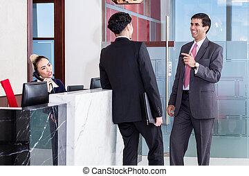 マネージャー, そして, affiliate, 傾倒, ∥において∥, フロント, の, オフィス