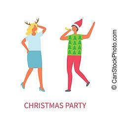 マネージャー, ビジネス, ダンス, 2, クリスマス・パーティ