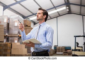 マネージャー, 倉庫, クリップボード, 保有物