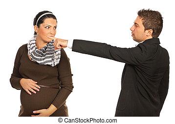 マネージャー, 女, 発射される, 妊娠した