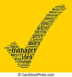 マネージャー, 概念, 単語, 雲